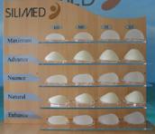 SILIMED mellimplantátum formák és méretek